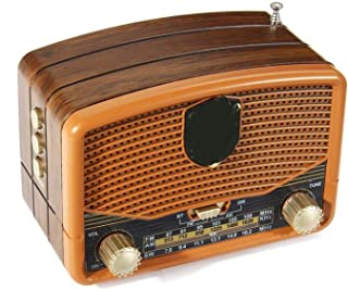 $77 » EODUDO-S Retro Wood Grain Mini FM AM SW Antenna Radios Receiver Portable Speaker Support Bluetooth USB TF Card MP3 Player ...