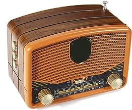 guizhoujiufu Radio Speaker Home Speakers Retro Wood Grain Mini FM AM SW Antenna Radios Receiver Portable Speaker Support B... photo