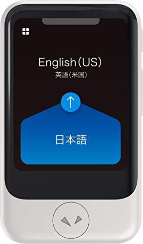 Pocketalk Model S Real Time Two-Way 82 Language Voice Translator with 2 Year Built-in Data and Text-to-Translate Came...