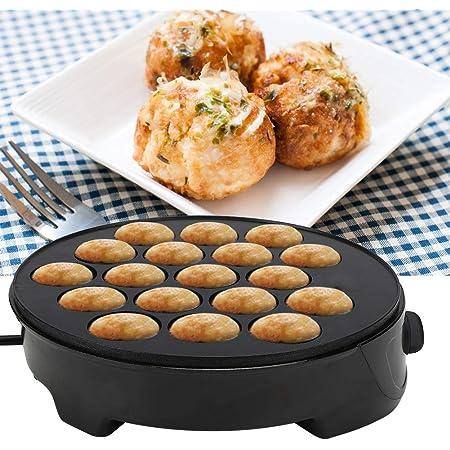 Machine électrique Takoyaki antiadhésive pour machine à petit-déjeuner 220 à 240 V Noir