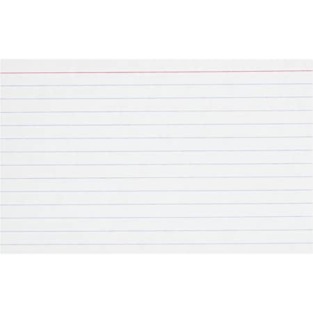 """Oxford 4"""" x 6"""" Ruled White Index Cards, 100/Pack"""
