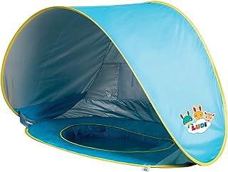 Multifunktionell pool från Ludi   tillverkad av tyg med UV 50 skydd – från födseln – tält bestående av pool med nät, marki...