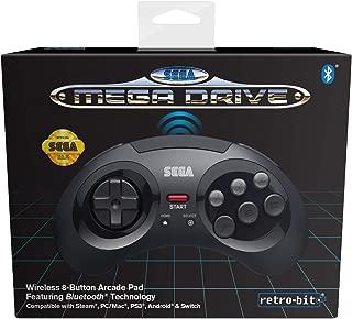 Retro-Bit Official SEGA Mega Drive Bluetooth Control Pad 黑色 个人電腦/工作站