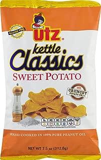 Utz Kettle Classics Crunchy Sweet Potato Chips 7.5 oz. Bag (4 Bags)