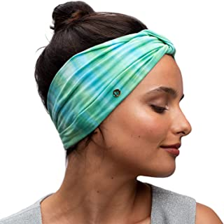 Original Tie Dye Headbands. Soft Eco Fabric for Fashion Or Workout. Wear Wide Turban Knotted or Many More Styles. Traditionally Dyed and Ethically Hand Made in Bali. (Lagoon)