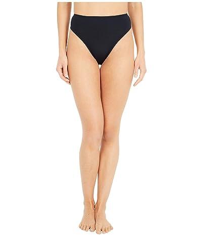 Roxy Solid Beach Classics High Leg Mini Bottoms (True Black) Women