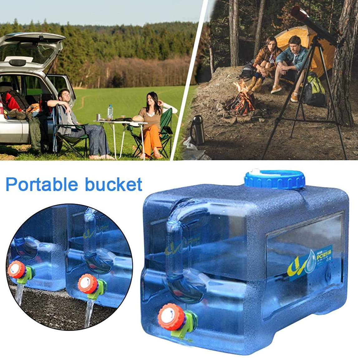 地域のマージンシャワー22L ウォータータンク ポリタンク 給水器 22L 蛇口付き 厚手 水の貯蔵容器 車載 水貯蔵 車 ホーム アウトドア キャンプ 用 ウォーターディスペンサー