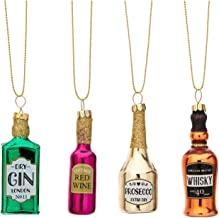 Sass and Belle Christmas Cheer Set of 4 Bottle Shaped Baubles