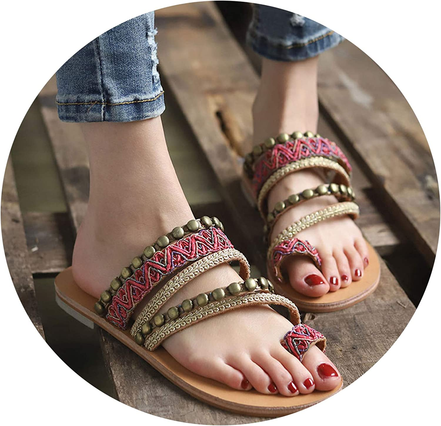 Women's shoes Bohemian Gladiator Beach Flat Sandals