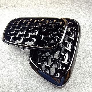 Fangfeen Frente del Coche de ri/ñ/ón Rejillas de pl/ástico ABS reemplazo Delantero Rejillas Negro Brillante para X1 E84 2010-2015