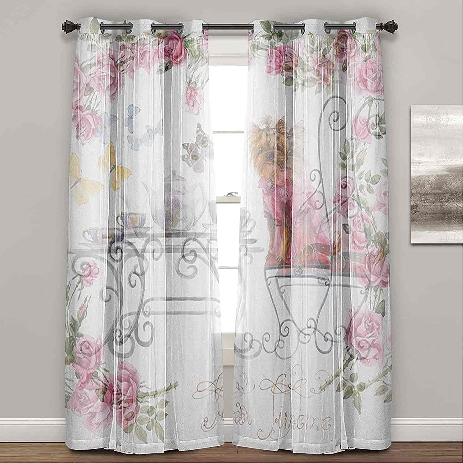 Yorkie Now on sale White Gauze Blackout Drapes Terrie Max 83% OFF Assembled Yorkshire