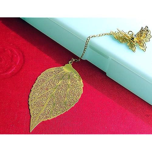 100% True Bookmark Gold Dragonfly Sheet Metal Gift Souvenir Book Reading Bookmark Office & School Supplies