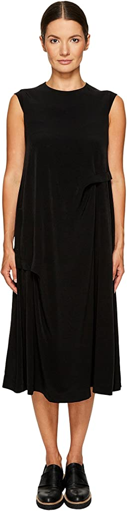 Y's by Yohji Yamamoto Side Tuck Sleeveless Dress