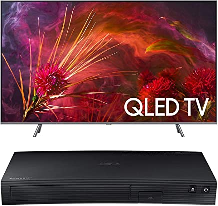$2275 Get Samsung QN65Q8F Flat 65-Inch QLED 4K UHD 8 Series Smart TV 2018 Bundle with Samsung BD-J5700 Curved Blu-ray Player with Wi-Fi (2015 Model)