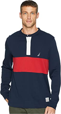Long Sleeve Woven Color Block