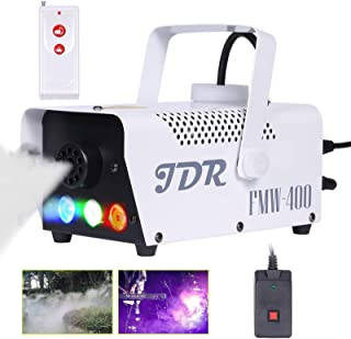 Best JDR Fog Machine with Controllable lights, Disinfection LED Smoke Machine(Red,Green,Blue) with Wireless and Wired Remote Control for Weddings, Parties or Environmental Disinfection,with Fuse Protection Review