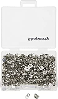 Shapenty 200PCS/100Pairs Stainless Steel Earnuts Butterfly Clutches Earring Safety Backs Stopper Replacements Earring Back...