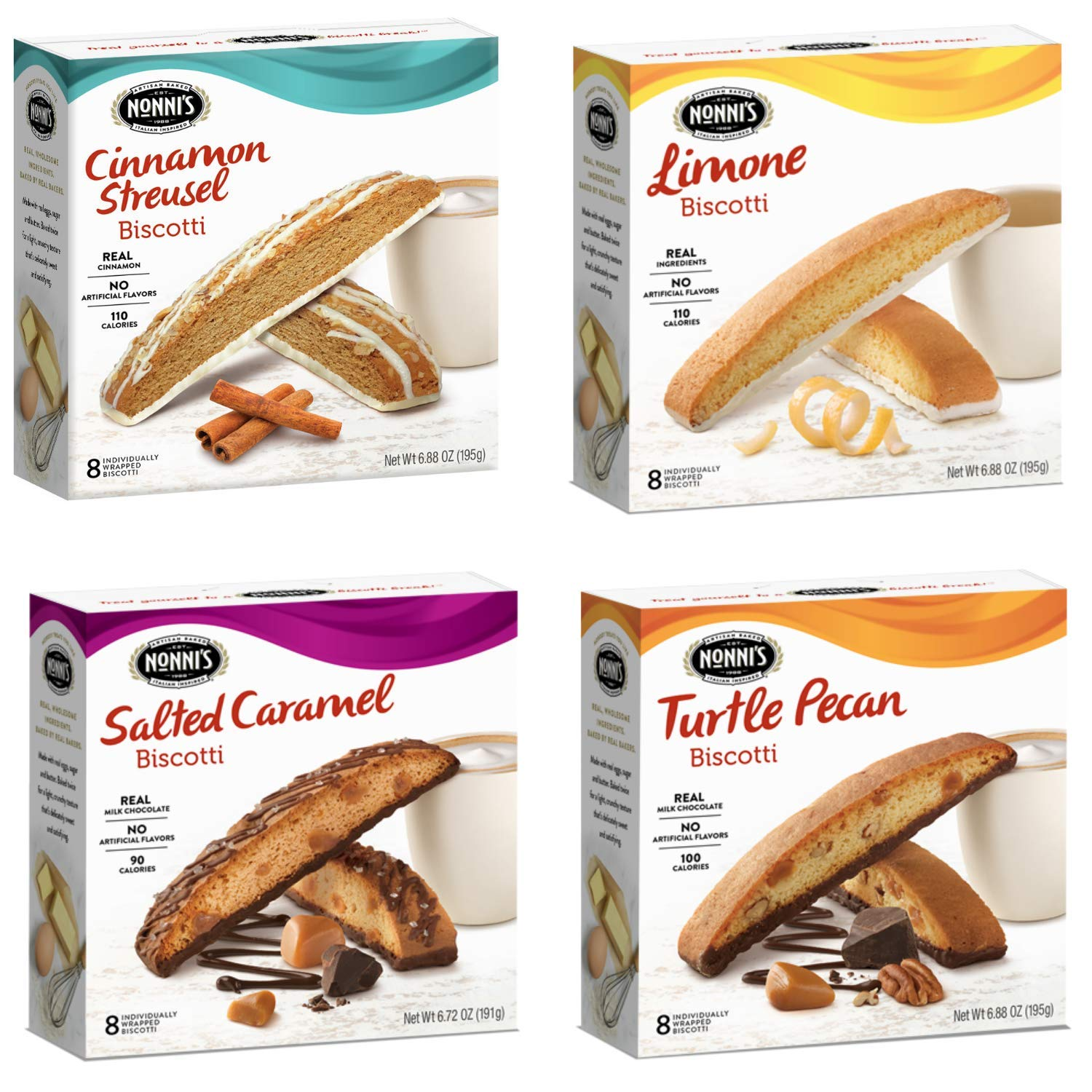 Nonni's Biscotti 4 Boxes of Challenge the lowest price Japan ☆ Individually San Antonio Mall and 8 Wrapped