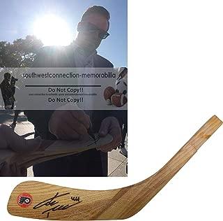 Kimmo Timonen Philadelphia Flyers Autographed Hand Signed Logo Ice Hockey Stick Blade with Exact Proof Photo of Signing and COA