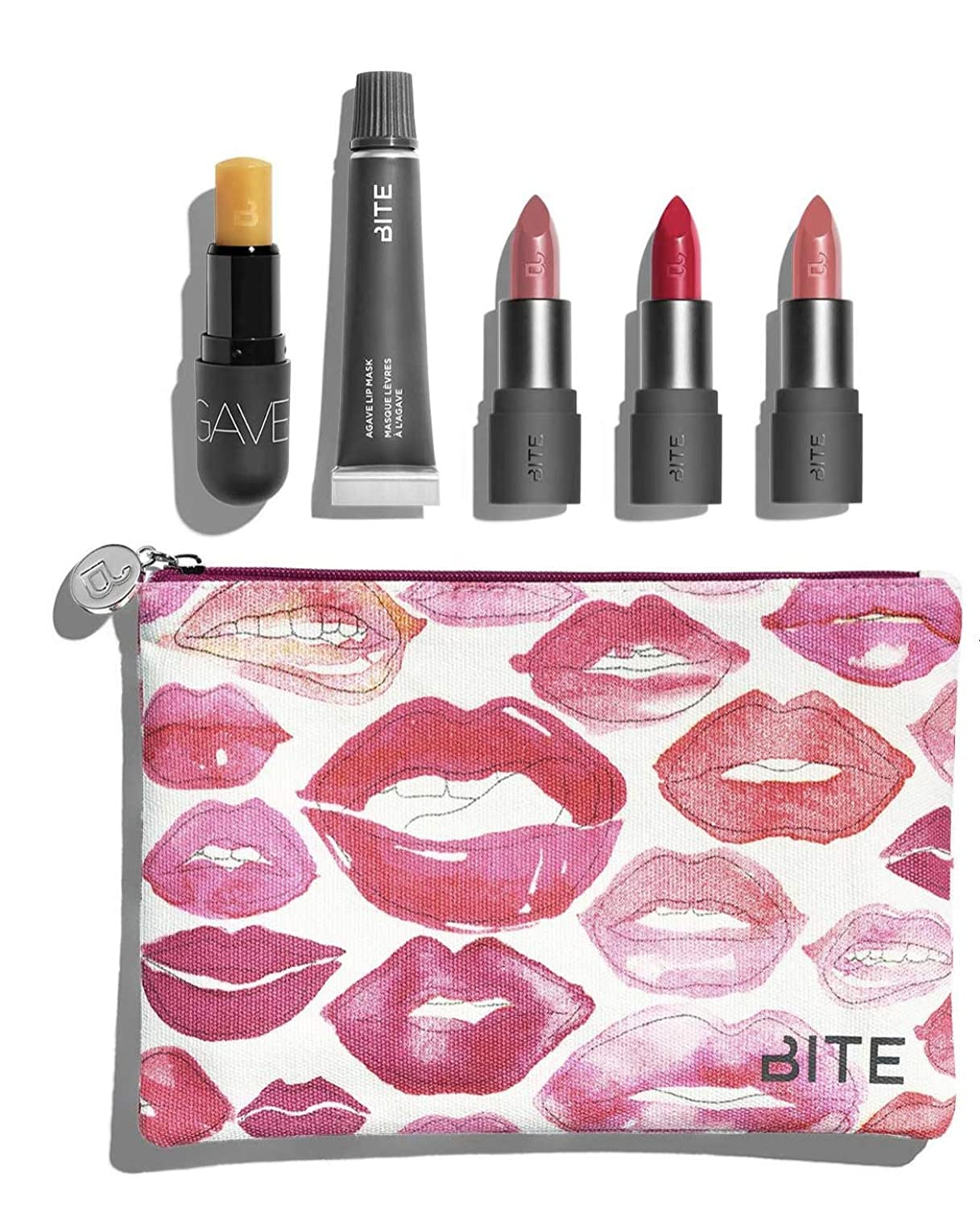 覆す貢献するブルームバイト ビューティー リップセット ポーチ付き Bite Beauty Kiss 'N Fly Lip Care & Lipstick Set マスカラ アイライナー アイブロー メイクアップ