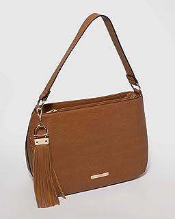 Tan Carla Tassel Tote Bag