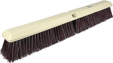 "Weiler 42168 Perma-Sweep 24"" Block Size, Maroon Polystyrene Fill, Coarse Sweeping Floor Brush, Natural"