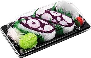 Rainbow Socks, Mujer Hombre Calcetines Sushi Octopus Morado - 1 Par