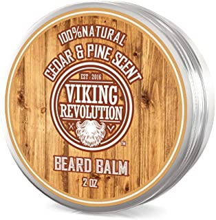 Beard Balm Cedar & Pine Scent w/Argan & Jojoba Oils - Styles, Strengthens & Softens Beards & Mustaches - Leave in Conditioner Wax for Men by Viking Revolution â¦