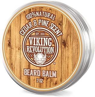 Beard Balm Cedar & Pine Scent w/Argan & Jojoba Oils - Styles, Strengthens & Softens Beards & Mustaches - Leave in Conditioner Wax for Men by Viking Revolution â¦