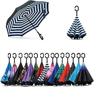 Jooayou 逆転傘 逆さ傘 逆折り式傘 反転傘 自立傘 長傘 手離れC型手元 耐風 撥水加工 晴雨兼用 ビジネス用 車用 UVカット 遮光遮熱