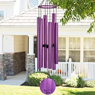 Memorial Wind Chimes Outdoor Large Deep Tone,36''Wind Chimes Amazing Grace Tuned Relaxing Soothing Melody,Sympathy WindChi...