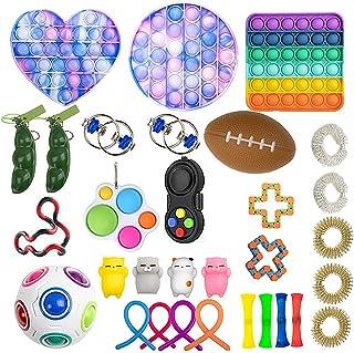 T.Y.G.F Fidget Toys Set Pas Cher, 31 Pièces Jouets Sensoriels Gadgets Toys Anti-Stress, Pack de Jouets sensoriels Bon marc...