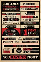 Pyramid America Fight Club Rules 24 x 36-Inch Typography Poster
