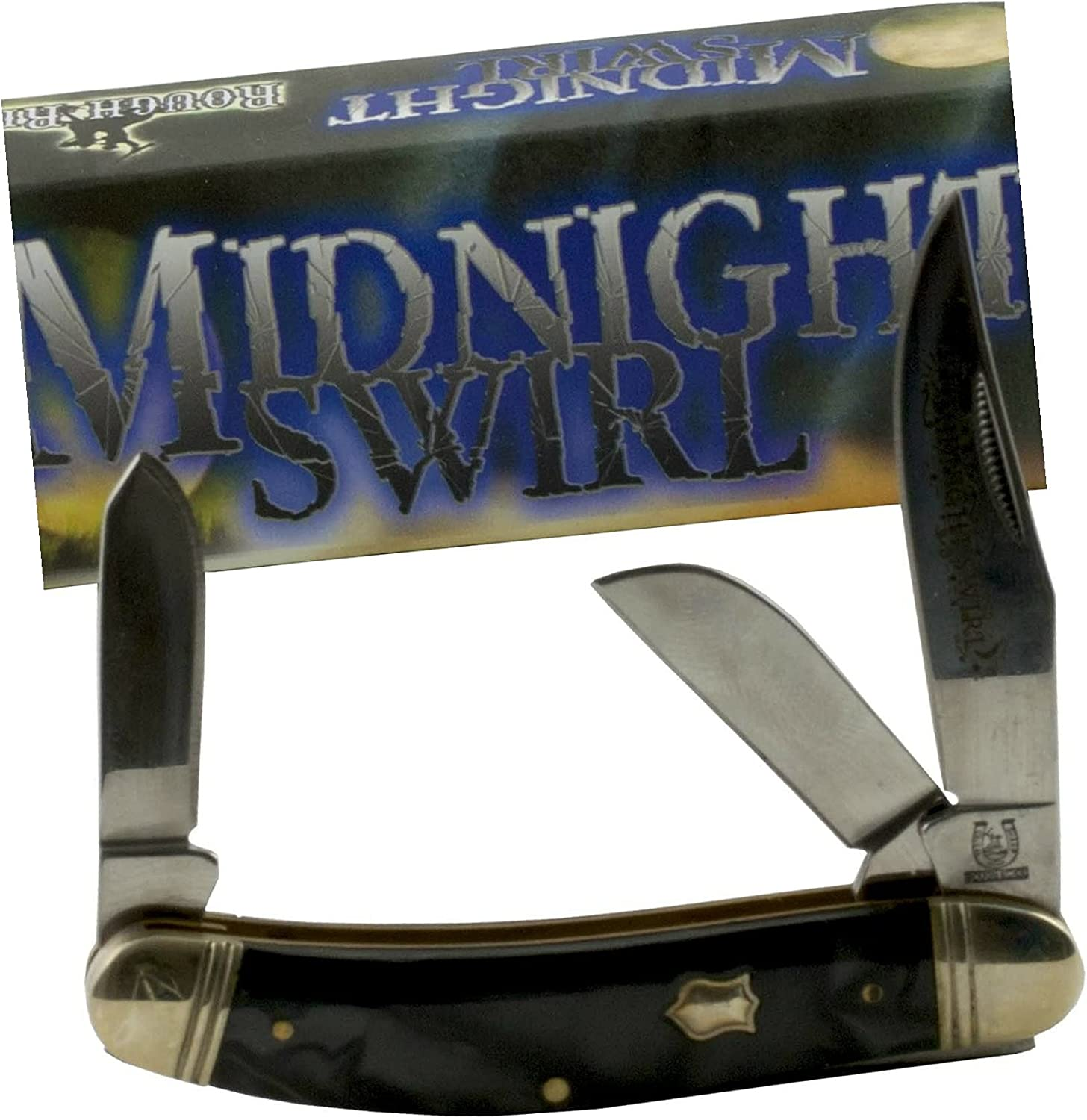 Midnight Swirl Stockman Pocket Knife Handles 3 In stock Stainle Blade 959 Sale special price
