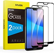 [2-Pack] Protector Pantalla Huawei P20 Lite, Full-Cover Cristal Templado Huawei P20 Lite [Sin Burbujas] [Anti-Arañazos] [Dureza 9H] [Anti-Huella] [Ajuste Perfecto] Negro