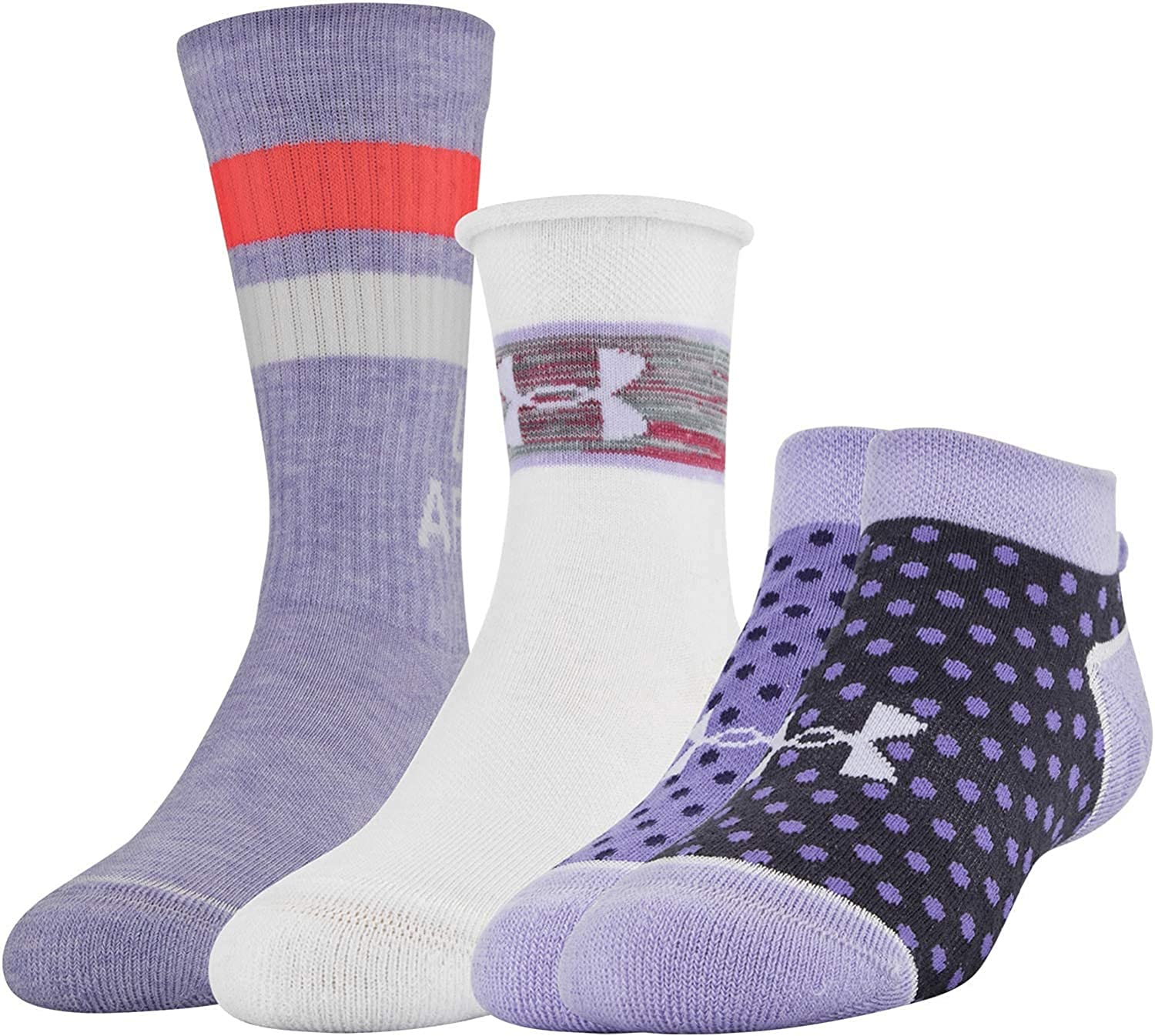 Under Armour Girl's Wardrobe Pack Japan's largest assortment 3 Socks A surprise price is realized