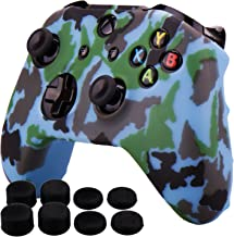 Pandaren Silicone rubber cover skin case anti-slip Water Transfer Customize Camouflage for Xbox One/S/X controller x 1 Lig...