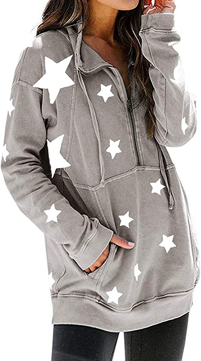 AODONG Pottseth Sweatshirts for Women Hoodie,Solid Button Down Long Sleeve Shirt Hoodies Loose Casual Pullover with Pocket