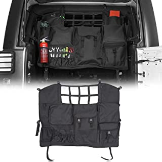 $49 » Sponsored Ad - Hooke Road Wrangler Interior Storage Bag,Rear Seat Cover Cargo Net Trunk Organizers Pouch Bags Compatible w...