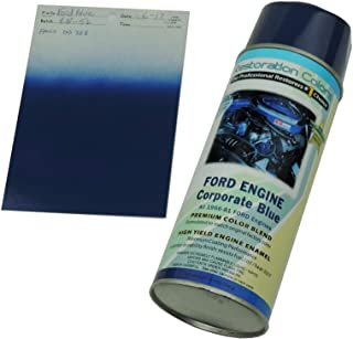 Compatible With 1966-1981 Corporate FORD BLUE High Temp Engine Enamel Spray Paint 1 Can (C-1-5)