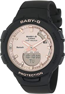 Casio Baby-G Womens Quartz Watch, Analog-Digital Display and Resin Strap - BSA-B100MF-1ADR