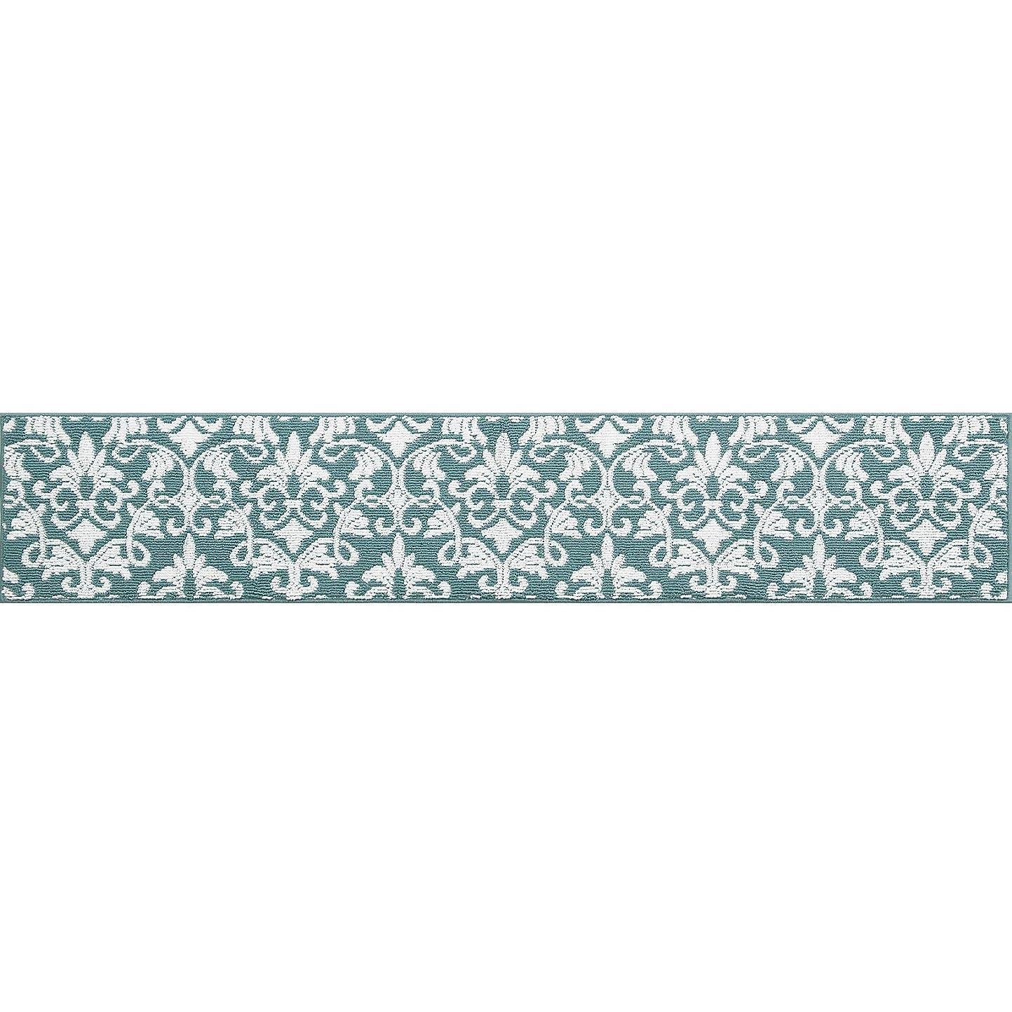 センコー アリオン キッチンマット ブルー 45×240cm 強力すべりどめ?床暖房対応 62476