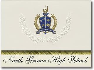 Signature Announcements North Greene High School (Greeneville, TN) Graduation Announcements, Presidential style, Elite pac...