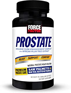 Force Factor Prostate Saw Palmetto and Beta Sitosterol Supplement for Men, Prostate Health Support, Prostate Size Support,...