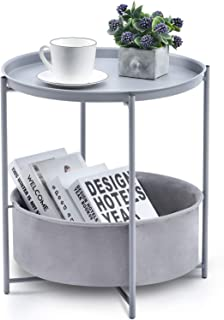 Kingrack Stolik kawowy, stolik pomocniczy, okrągły stolik