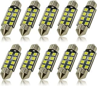 DODOFUN 36MM Festoon 6418 DE3423 DE3425 6000K White Extra Bright LED Bulbs for Car Interior Lights License Plate Map Dome Trunk Door Courtesy Light 8-SMD Chipset Canbus Error Free