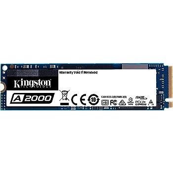 Kingston SSD A2000 500GB M.2 2280 NVMe PCIe 3D TLC NAND DRAMキャッシュ搭載 SA2000M8/500G 正規代理店保証品 5年保証