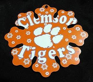 Clemson Tigers Metal Snowflake Christmas Ornament 6