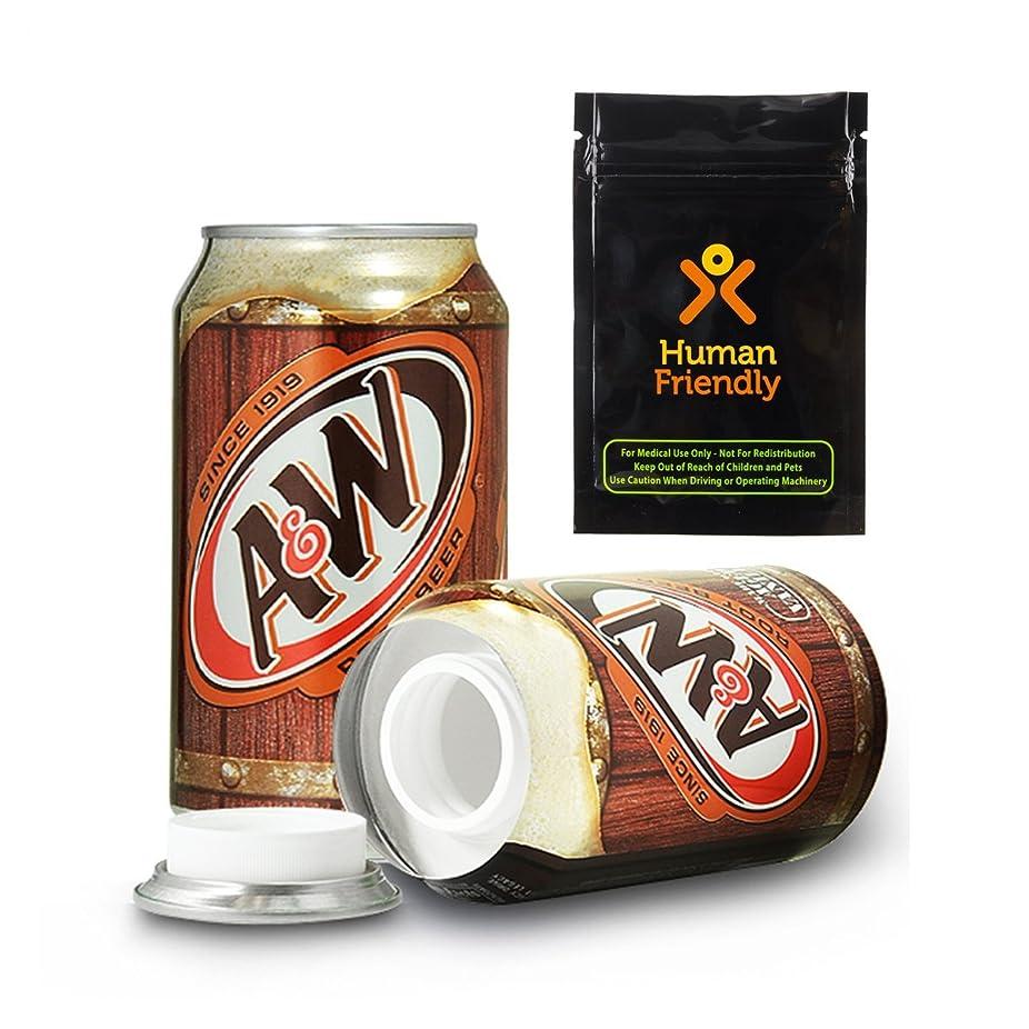 銀行キャプテンブライ理想的A & W Root Beer DiversionセーフSecret Stash Can W humanfriendly Smell Proofバッグ