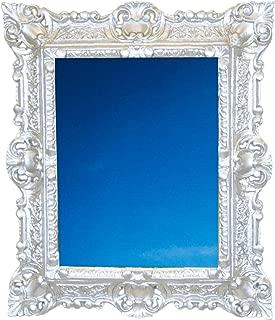 Ideacasa Coiffeuse Miroir Noir Argent Style Baroque Louis XVI Imitation Vintage cm 75/x 49